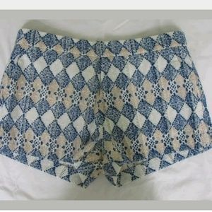 Joie cotton geo print shorts